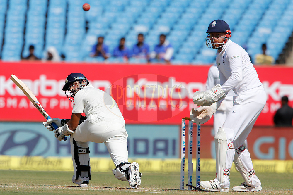 Murali Vijay of India bats during day 3 of the first test match between India and England held at the Saurashtra Cricket Association Stadium , Rajkot on the 11th November 2016.<br /> <br /> Photo by: Deepak Malik/ BCCI/ SPORTZPICS