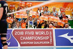 20170524 NED: 2018 FIVB Volleyball World Championship qualification, Koog aan de Zaan<br />Public support, block <br />©2017-FotoHoogendoorn.nl / Pim Waslander