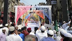November 21, 2018 - Kolkata, West Bengal, India - Street decorates on the occasion of Eid-e-Milad festival marking the anniversary of Prophet Muhammad's birth. (Credit Image: © Saikat Paul/Pacific Press via ZUMA Wire)