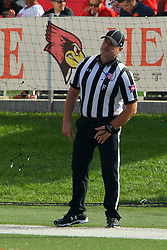 21 October 2017:   Steve Gfell during the South Dakota Coyotes at Illinois State Redbirds Football game at Hancock Stadium in Normal IL (Photo by Alan Look)