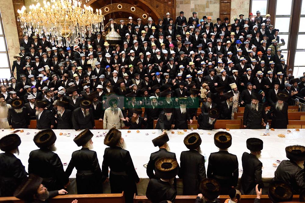 March 22, 2019 - Jerusalem, Israel - Ultra-Orthodox Jews celeberate Purim Holiday in Me'a She'arim neighborood in Jerusalem on March 22, 2019. (Credit Image: © Gili Yaari/NurPhoto via ZUMA Press)