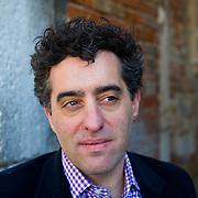 Nathan Englander poses in Venice ahead of his talk for the Incontri di Civilta event in Venice. ----------------------<br /> Marco Secchi/XianPix<br /> email msecchi@gmail.com<br /> http://www.marcosecchi.com