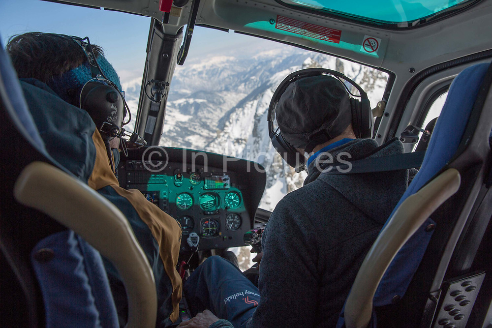 Heli skiing on the 4th March 2019 in Ayder in the Kackar Mountains in Eastern Turkey.