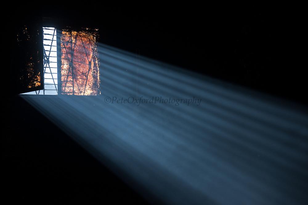 Sunlight through window<br /> Pulingue San Pablo community<br /> Chimborazo Province<br /> Andes<br /> ECUADOR, South America