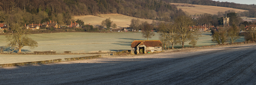 Panoramic image of Hambleden Village in the Thames Valley close to Henley, Oxfordshire, Uk