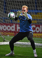 Sheffield Wednesday's Cameron Dawson warms up<br /> <br /> Photographer Dave Howarth/CameraSport<br /> <br /> Carabao Cup Second Round Northern Section - Rochdale v Sheffield Wednesday - Tuesday 15th September 2020 - Spotland Stadium - Rochdale<br />  <br /> World Copyright © 2020 CameraSport. All rights reserved. 43 Linden Ave. Countesthorpe. Leicester. England. LE8 5PG - Tel: +44 (0) 116 277 4147 - admin@camerasport.com - www.camerasport.com