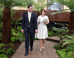 File photo dated 23/05/16 of Princess Eugenie of York and her long-term boyfriend Jack Brooksbank during a visit to the RHS Chelsea Flower Show at the Royal Hospital Chelsea, London. Buckingham Palace has announced that they have become engaged.