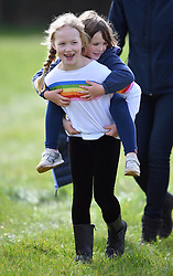 Members of Royal Family attend the Gatcombe Horse Trials at Gatcombe Park, Minchinhampton, Gloucestershire, UK, on the 23rd March 2019. 23 Mar 2019 Pictured: Savannah Phillips, Mia Tindall. Photo credit: James Whatling / MEGA TheMegaAgency.com +1 888 505 6342