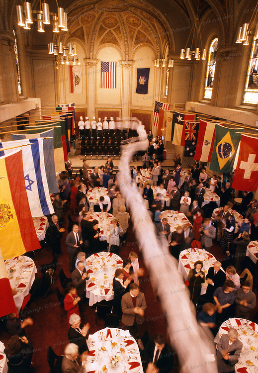 Graduation class ceremony at the Culinary Institute of America in Poughkeepsie, New York.