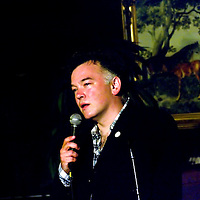 Stewart Lee<br /> On stage at the Stoke Newington Literary Festival. 24 November 2010<br /> <br /> Picture by David X Green/Writer Pictures