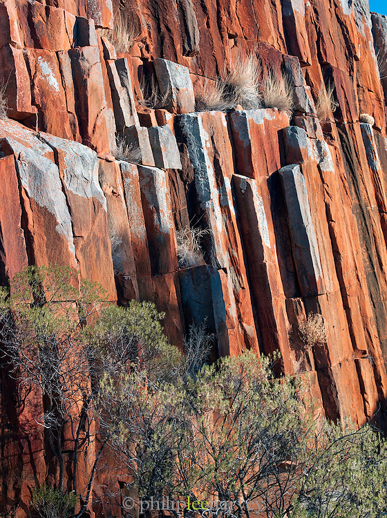 Kolay Minica Falls rock formations in the Gawler Ranges National Park, South Australia, Australia