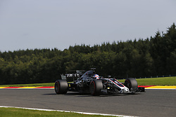 August 25, 2017 - Francorchamps, Belgium - ROMAIN GROSJEAN of France and Haas F1 Team drives during practice session of the 2017 Formula 1 Belgian Grand Prix in Francorchamps, Belgium. (Credit Image: © James Gasperotti via ZUMA Wire)