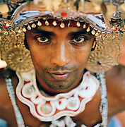 Portrait of a dancer in Kandy, the centre of Sri Lanka's performing Arts.