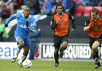 Photo: Chris Brunskill. Wigan Athletic v Ipswich Town. Coca-Cola Championship. 05/03/2005. The Wigan goalscorer Nathan Ellington sprints clear of the Ipswich defence.