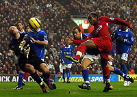 Fotball<br /> Premier League 2004/2005<br /> 06.11.2004<br /> Foto: BPI/Digitalsport<br /> NORWAY ONLY<br /> <br /> Liverpool v Birmingham City<br /> <br /> Florent Sinama Pongolle shoots over from close range