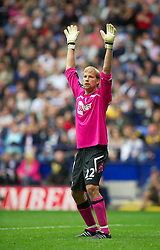 21.08.2011, Reebok Stadium, Bolton, ENG, PL, Bolton Wanderers FC vs Manchester City FC, im Bild Bolton Wanderers' goalkeeper Jussi Jaaskelainen in action against Manchester City during the Premiership match at the Reebok Stadium, EXPA Pictures © 2011, PhotoCredit: EXPA/ Propaganda/ D. Rawcliffe *** ATTENTION *** UK OUT!