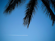 Airplane at cruising altitude, Palawan Island, Philippines, Southeast Asia