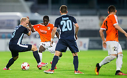 Uros Celcer of Gorica vs Oumarou Kaina of Shirak during 2nd Leg football match between ND Gorica and FC Shirak in 1st Qualifying Round of UEFA Europa League 2017/18, on July 6, 2017 in Nova Gorica, Slovenia. Photo by Vid Ponikvar / Sportida