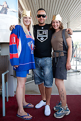 Slovenian ice-hockey player NHL Champion Anze Kopitar at welcome ceremony when he arrived home after winning Stanley Cup at the end of season 2011/2012, on June 20, 2012, at airport Jozeta Pucnika, Brnik, Slovenia. (Photo By Matic Klansek Velej / Sportida)