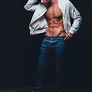 Studio fashion shoot with Los Angeles model, Jacob Anton. Images made at FD Photo Studios Art 1 on July 12, 2018 in Downtown Los Angeles, California.  ©Michael Der