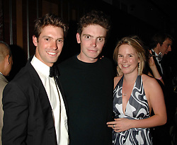 Left to right, HARRY MEADE, JAMES MEADE and his sister LUCY MEADE at the 2008 Boodles Boxing Ball in aid of the charity Starlight held at the Royal Lancaster Hotel, London on 7th June 2008.<br /> <br /> NON EXCLUSIVE - WORLD RIGHTS