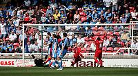 Photo: Marc Atkins.<br /> <br /> Rushden & Diamonds v Wycombe Wanderers. Coca Cola League 2. 22/04/2006. Rushden & Diamonds celebrate their  opening goal.