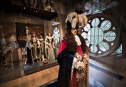 © Licensed to London News Pictures. 29/05/2018. London, UK. A funeral effigy of King William III is displayed in the new Queen's Diamond Jubilee Galleries at Westminster Abbey. The recently finished galleries situated in 13th century triforium, 52 feet above the abbey floor, will display treasures not seen by the public before and tell the story of abbey's thousand-year history. Photo credit: Peter Macdiarmid/LNP