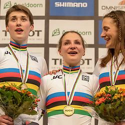 28-02-2018: Wielrennen: WK Baan: Apeldoorn<br />De Duitse vrouwen pakten de titel op de keirin Miriam Welte en Kristina Vogel reden de finale. Pauline Grabosch starte in de kwalificatie