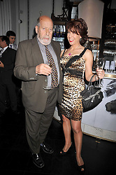 SIR CLEMENT FREUD and KATHY LETTE at a party to celebrate the publication of 'In Bed With' held at the Artesian Bar,The Langham Hotel, 1c Portland Placeon 11th February 2009.