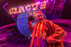 Celebrating the 250th anniversary of the circus, the contemporary circus Cirque Berserk starts its 2018 UK tour in Edinburgh. The international troupe includes over thirty jugglers, acrobats, aerialists, dancers, drummers and daredevil stuntmen.<br /> <br /> Pictured: Tweedy the Clown from Scotland