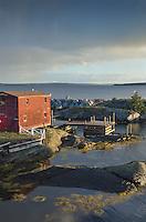 Fishermen's shacks and docks, Blue Rocks Nova Scotia