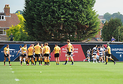 Two neighbours either side watch the action unfold at Ashton Gate  - Photo mandatory by-line: Joe Meredith/JMP - Mobile: 07966 386802 - 21/09/2014 - SPORT - FOOTBALL - Bristol - Ashton Gate - Bristol Rugby v Cornish Pirates - Greene King IPA Championship