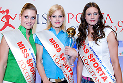 Lorina Smolnikar, Ajda Sitar and Amadeja Teraz at event Miss Sports of Slovenia, on April 18, 2009, in Festivalna dvorana, Ljubljana, Slovenia. (Photo by Ales Oblak / Sportida)