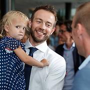 NLD/Amsterdam/20180511 - Boekpresentatie Henri Schut genaamd Topfit, Henri Schut en dochter Anne
