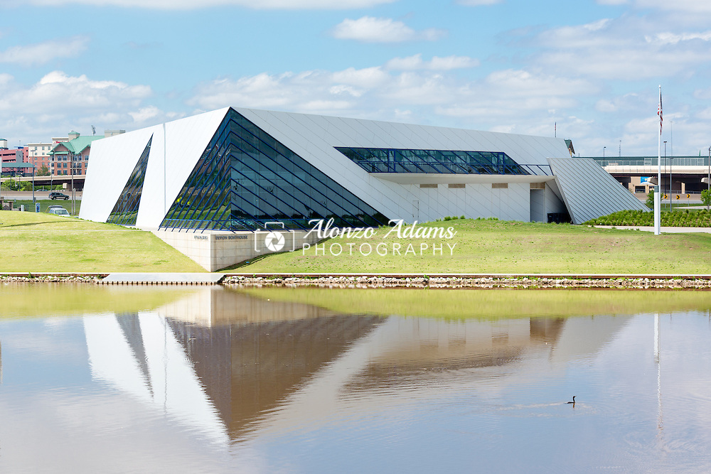 Devon Boathouse on the banks of the Oklahoma River in Oklahoma City as seen on Wednesday, April 20, 2016. (Photo copyright © 2016 Alonzo J. Adams)