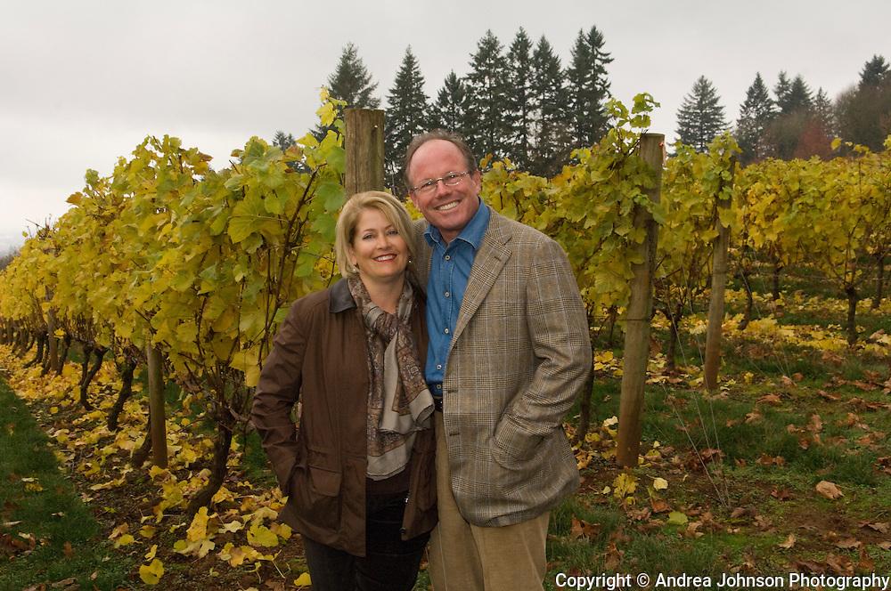 Steve & Paula Black of Four Graces winery enjoy the estate vineyards & property