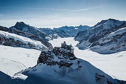 14.09.2017, Jungfrauenjoch, Wengen, SUI, FIS Weltcup Ski Alpin, Vorberichte, im Bild Jungfraujoch mit Sphinx Observatorium im Hintergrund der Aletschgletscher // Jungfraujoch with Sphinx Observatory in the background the Aletsch Glacier during a preliminary reports prior to the FIS ski alpine world cup at the Jungfrauenjoch in Wengen, Switzerland on 2017/09/14. EXPA Pictures © 2020, PhotoCredit: EXPA/ Johann Groder **** ACHTUNG - dieses Bilddatei ist für den Grossformatdruck in einer maximalen Grösse mit mehr als 18142 x 6717 pixel (ca. 700 MB) verfügbar! Fragen Sie nach den hochauflösenden Daten // ATTENTION - This image file is for Large Format Printing available in a maximum size of more then 18142 x 6717 pixels (about 700 MB)! Ask for the high-resolution data. ****