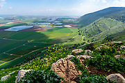 View of the Jezreel valley from Mount Gilboa observation point, Israel