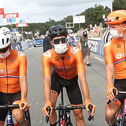 26-08-2020: Wielrennen: EK wielrennen: Plouay<br /> Sebastian Langeveld, Nick Van Der Lijke, Julius van den Berg