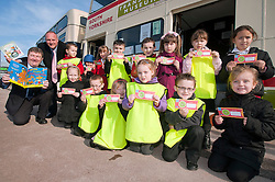 Children from Ryecroft school celebrate World Book Day a Parkgate Shopping Rotherham with the help of Billy Smith Savills Area Property Manager (far left) and Denis Copeland Parkgate Shopping Manager with ..http://www.pauldaviddrabble.co.uk..1 March 2012 -  Image © Paul David Drabble
