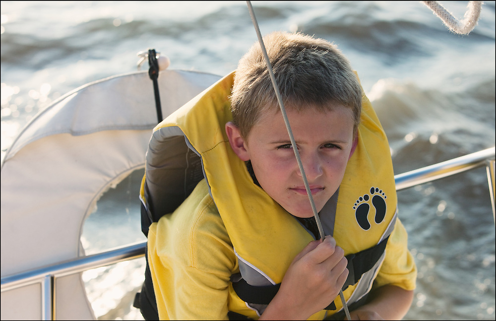 A child enjoying  the open waters of Cheney Lake.