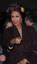 """Iman at the Broadway opening of """"To Kill A Mockingbird"""" in New York City."""