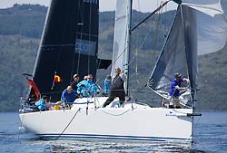 Silvers Marine Scottish Series 2017<br /> Tarbert Loch Fyne - Sailing<br /> <br /> GBR9470R, Banshee, Charlie Frize, CCC, Corby 33.<br /> <br /> Credit Marc Turner / PFM