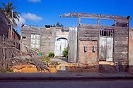 Dilapidated house in Gibara, Holguin, Cuba.