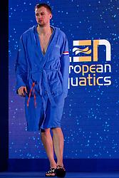Kjeld Veenhuis #2 of Netherlands during Netherlands vs Malta on LEN European Aquatics Waterpolo January 21, 2020 in Duna Arena in Budapest, Hungary