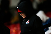 Crawley Town fan during the EFL Sky Bet League 2 match between Walsall and Crawley Town at the Banks's Stadium, Walsall, England on 18 January 2020.