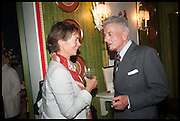 CELIA IMRIE; NICKY HASLAM, Nicky Haslam hosts a party to launch a book by  Maureen Footer 'George Stacey and the Creation of American Chic' . With a foreword by Mario Buatta. Kensington. London. 11 June 2014