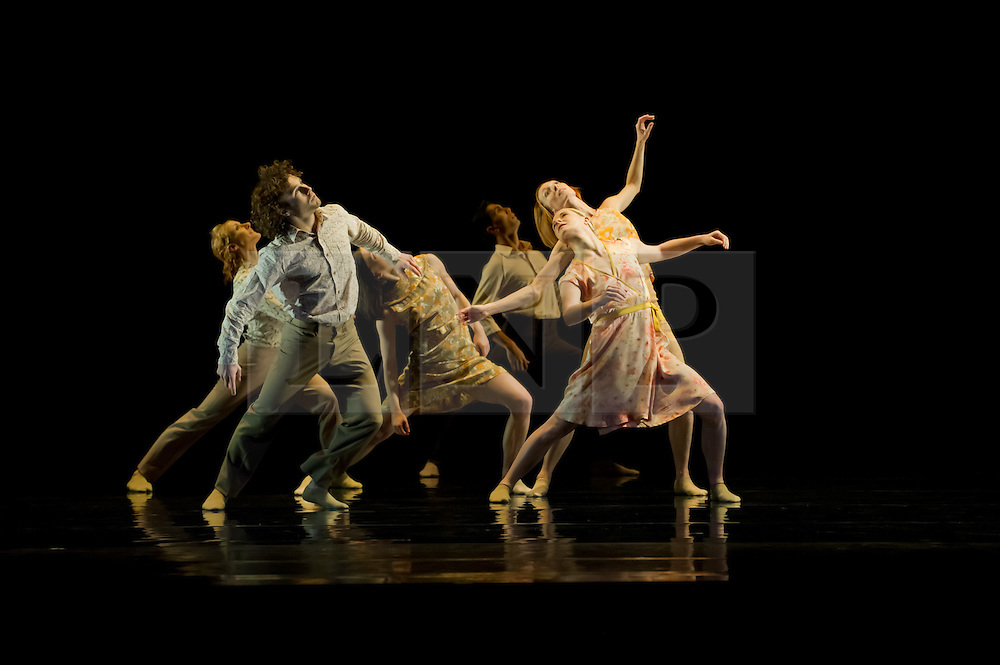 """© Copyright licensed to London News Pictures. 08/11/2010. Rambert Dance Company presents """"Awakenings', based on the book by Oliver Sachs, at Sadler's Wells, London. Choreographed by Aletta Collins, and with a specially-commissioned score by American composer, Tobias Picker, this is a premiere for London. The company are: Angela Towler, Pieter Symonds, Gemma Nixon, Thomasin Gulgec, Jonathan Goddard, Robin Gladwin, Malgorzat Dzierzon, Eryck Brahmania. Commissioned by Daniel Katz Limited. Lighting design by Yaron Abulafia. Design by Miriam buether."""
