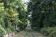 France. Paris 14th district., secteur de la Gare Montrouge ceinture .  former railway line around Paris,  /  la petite ceinture ferroviaire de Paris.