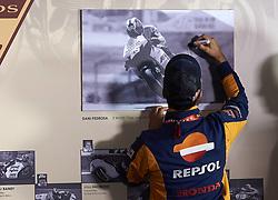 November 15, 2018 - Valencia, Spain - Dani Pedrosa (26) of Spain and Repsol Honda Team has been named a MotoGP Legend during the press conference before of the Gran Premio Motul de la Comunitat Valenciana of world championship of MotoGP at Ricardo Tormo Circuit in Valencia, Spain on 15th Nov 2018  (Credit Image: © Jose Breton/NurPhoto via ZUMA Press)